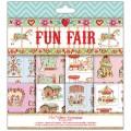 Набор бумаги для 3D декупажа Fun Fair, 20х20 см, 12 листов, Helz Cuppleditch, HCDG014