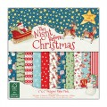 Набор бумаги The Night Before Christmas, 15x15 см, 12 листов, Helz Cuppleditch , HCPAP003X15