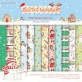 Набор бумаги Santa's Workshop, 12 листов, 15х15 см, Helz Cuppleditch, HCXDP09