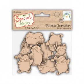 Деревянные фигурки Special Delivery by Helz Cuppleditch Wooden Characters - Penguins, HCXWC01