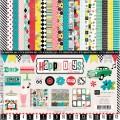 Набор бумаги Happy Days, 30х30 см, 12 листов и 2 листа наклеек, Echo Park, HD19016