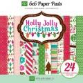 Набор бумаги Holly Jolly Christmas, 15х15 см, 12 листов, Echo Park, HJ20023