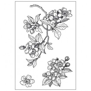 Акриловый штамп Cherry Blossom, Hot Off The Press, HOTP-1083
