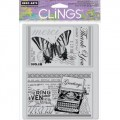 Набор резиновых штампов Greetings, c оснасткой,Hero Arts, HRCG414