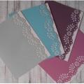 Заготовки для открыток с ажурным краем, набор из 4 открыток