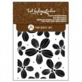 Штампы Background Flowers Cling Rubberstamp, Hot Fudge Studio/Hampton Art, IC0173