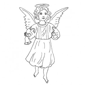 Штамп резиновый Angelic Tidings Stamp, Hampton Art, IC0211