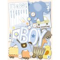 Набор высечек Itsy Bitsy Baby Boy, 144 шт, K&Company, K&C446759