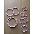 Кольца для альбомов, цвет розовый, диаметр от 2 до 5 см