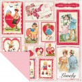 Лист бумаги Lovely-Greetings-Vintage Greetings/Light Pink, Authentique Paper, LOV006