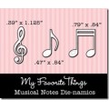 Ножи для вырубки Die-namics Musical Notes, My Favorite Things, MFTH-0004