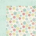 Лист картона Mistletoe Magic-Snow Flakes, My Mind's Eye, MM1004