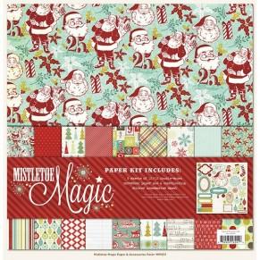Набор бумаги Mistletoe Magic, 30х30 см, My Mind's Eye, 9 листов, MM1011