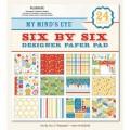 Набор бумаги PlayDate, My Minds Eye, 12 листов, 15х15 см, 6X6210
