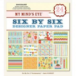 Набор бумаги HooteNanny, My Minds Eye, 12 листов, 15х15 см, 6X6207