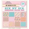 Набор бумаги Happy Day, My Minds Eye, 12 листов, 15х15 см, 6X6206