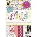 Набор бумаги All About Girls, DCWV, 10 х 15 см, 72 листа, MS-003-00051