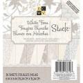 Набор бумаги White Fern, 15х15 см, 36 листов, DCWV, MS-019-000228