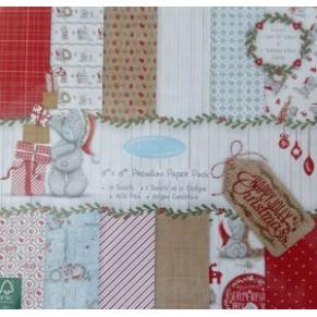 Набор бумаги Happy Jolly Christmas, 20×20 см, 12 листов, Me to You