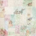 Лист бумаги Little Girls collage, Melissa Frances, 30 х 30 см, PA388