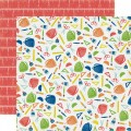 Лист двухстороннего картона Back to School - Paper&Glue collection, Echo Park, PA51002