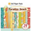 Набор бумаги Paradise Beach, 12 листов, 15х15 см, Echo Park, PB30023