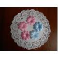 Набор тканевых цветов, 10 шт, цвет розовый, PFW00121-1