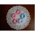 Набор тканевых цветов, 10 шт, цвет голубой, PFW00121-2