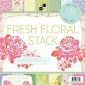 Набор бумаги Fresh Floral, 30х30 см, 60 листов, DCWV, PS-004-00022