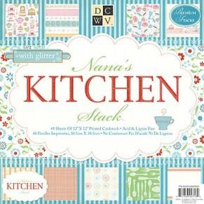 Набор бумаги Nana`s Kitchen, 30х30 см, 24 листа, DCWV, PS-005-00050