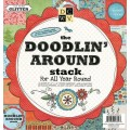 Набор бумаги Doodling Around, DCWV, 30х30 см, 24 листа, PS-005-00054