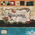 Набор бумаги Mariposa, 30х30 см, 24 листа, DCWV, PS-005-00070