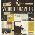 Набор бумаги World Traveler, 30х30 см, 24 листа, DCWV, PS-005-00108