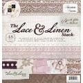 Набор бумаги Lace and Linen, 30х30 см, 24 листа, DCWV, PS-005-00133