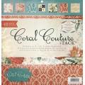 Набор бумаги Coral Couture, 30х30 см, 24 листа, DCWV, PS-005-00203