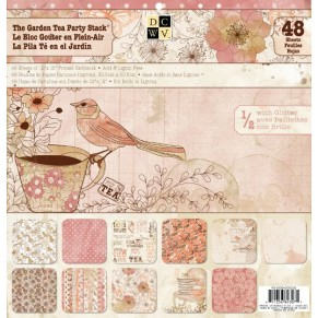 Набор бумаги Garden Tea Party, 30х30 см, 24 листа, DCWV, PS-005-00225