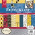 Набор бумаги District, 30х30 см, 24 листа, DCWV, PS-005-00256