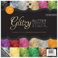 Набор бумаги Glitzy, 30х30 см, 12 листов, DCWV, PS-005-00260