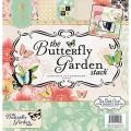 Набор бумаги Butterfly Garden, 30х30 см, 24 листа, DCWV, PS-005-00270