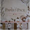 Бумага для скрапбукинга Paper Pack 12х12-Elegant Flowers, PS002
