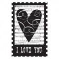 Резиновый штамп на деревянной основе I Love You Collage, Hampton Art, PS0350