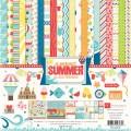 Набор бумаги A Perfect Summer, 30х30 см, 12 листов и 2 листа наклеек, Echo Park, PS47016