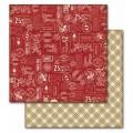 Лист картона Christmas Stamps, Echo Park, RC55004