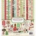 Набор бумаги Reflections Christmas, 30 х 30 см,12 листов + 2 листа наклеек, Echo Park, RC55016