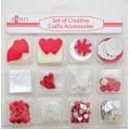 Набор декоративных украшений, красный, Santi, S-952089
