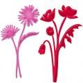 Ножи Asters and Poppies, Spellbinders, 2шт, S3-206