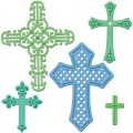 Ножи Crosses Two, 5 шт, Spellbinders, S5-093