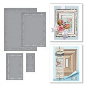 Ножи Hemstitch Rectangles, Spellbinders, S5-308