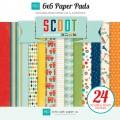 Набор бумаги Scoot, 12 листов, 15х15 см, Echo Park, SC41023