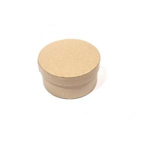 Заготовка коробка Круглая 80х40 мм, папье-маше, SCB2765001